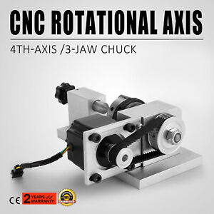 CNC Router Rotational Rotary Axis 50mm 3 jaw chuck &Tailstock 4th-Axis Engraver
