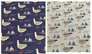 Fryetts GULL Seagull/Seaside Cotton Fabric.Upholstery/Curtains/Crafts/Cushions