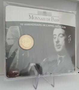 "2 euro Frankreich/France 2010 ""70'anniv.Appello18 De Gaulle BU  Coincard"