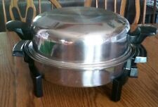 LIFETIME STAINLESS ELECTRIC SKILLET Custom Design by West Bend w/Dome Lid