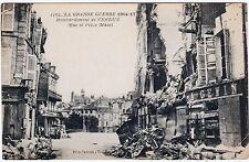 RARE ORIGINAL WWI 1914-17 LA GRAND GUERRE FRENCH POSTCARD #1160 BOMBING VERDUN