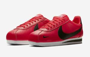Nike Men's Classic Cortez Prem Sz-10.5 (Leather) Red Orbit/Black 807480-601