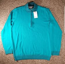 Adidas Golf Adipure Half Zip Wool Blend Pullover Sweater Size M MSRP $140