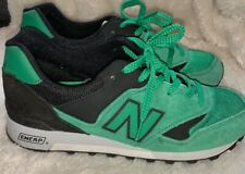 b9e933a2910 NEW BALANCE LIMITED EDT 577 ENGLAND SZ 8D MENS GREEN BLACK SUEDE TRAINERS