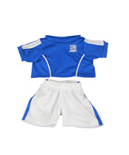 Soccer teddy blue