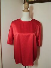 dominex soft red silk top NWOT  14