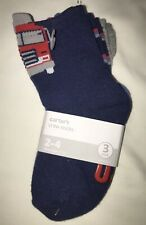 Carter's Toddler Boy 3 Pack Firetruck Socks 2-4 Years Nwt