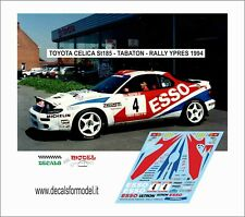 DECALS 1/43 TOYOTA CELICA ST185 ESSO TABATON RALLY YPRES 1994