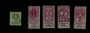 1919. 6d 'PETTY SESSIONS' & 1920s-60s. 6d 1/- 2/6d 10/- LAND REGISTRY STAMPS.