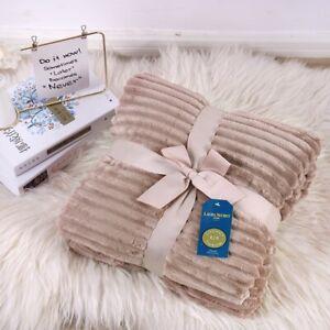 Luxury Warm Soft Double ChunkyRib Fleece Throw Blanket Sofa Bed Travel Throwover