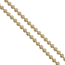 Gold Plated Military Ball Bead Chain 2.3mm Dog Tag Necklace