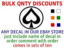Bulk Quantity Wholesale Vinyl Decal Car Sticker sets of 10 CHOOSE SIZE COLOR