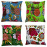 New INDIAN CUSHION PILLOW COVER THROW Vintage Kantha Ethnic Fruit Handmade