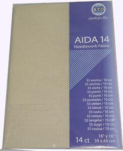 AIDA 14 Count cross stitch fabric - 39 cm x 45 cm