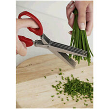 FRESH HERB CUTTER SCISSORS 5 BLADE STAINLESS STEEL BETTER THAN CUT KITCHEN KNIFE