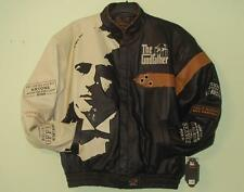 Size 6XL Hollywood The Godfather Don Carlioni Embroidered Leather Jacket 6XL
