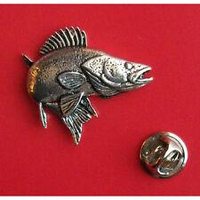 English Pewter  Fish Fishing Zander Walleye Pin Badge Tie Pin / Lapel Badge F24
