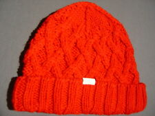 ABERCROMBIE HOLLISTER WOMENS RED BEANIE HAT SKI CAP  35