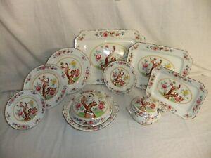 c4 Ceramic Art Co Crown Pottery - Old Chelsea Art Nouveau antique tableware 5F3A