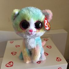 """Ty Beanie Boo FLUFFY the Pastel Cat 6"""" Claire's Exclusive MWMTS"""