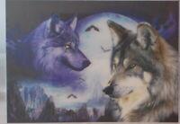 Two Wolves  - 3D Lenticular single image 34cm x 24.5cm unframed