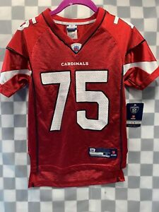 Arizona CARDINALS #75 Brown Reebok Football NFL Jersey Youth Size S (8) NEW