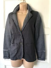 CREAM CLOTHING Erica Blazer Jersey Jacket Size Xs Blue Grey New +Tags Rrp£89