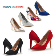 Womens Pump Shoes Pointed Toe High Stilettos Heel Wedding Party Dress Pump Shoes