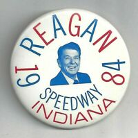 "RONALD REAGAN 1984 Speedway, Indiana Presidential visit 3"" CAMPAIGN  button"