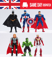 Marvel DC Avengers Super Hero Incredible Hulk Action Figure Toy cake topper 6PCS