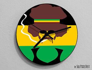 Jamaican Smoking Ganja Wall Clock