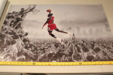 Michal Jordan Chicago Bulls Cloth Print Poster