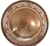 1930's Middletown Silver Company Small Round Tray Silver Plate Dish Platter 873