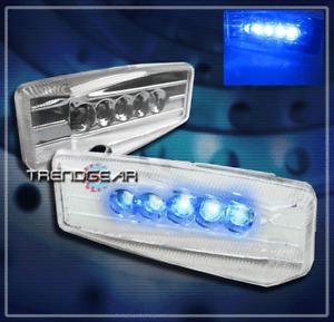 UNIVERSAL FENDER BLUE LED SIDE MARKER LIGHT LAMP FOR GMC HONDA HUMMER