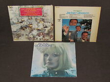 JACKIE GLEASON 3 LP RECORD ALBUMS LOT COLLECTION Best of/White Christmas/More I