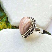 Argentinischer Rhodochrosit, rosa, edel Ring, Ø 18,0 mm, 925 Sterling Silber neu