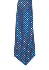 New Gucci Blue Patterned Tie