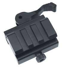 Tactical Quick Release Mount Adapter Riser Block Scope Mount Picatinny Rail 20mm