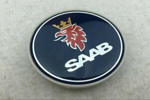 4Pcs 63mm Car Wheel Center Caps Emblem Sticker Decal Dark Blue Logo For SAAB