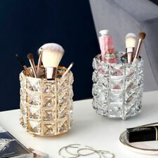 Makeup Brush Holder Big Diamond Mermaid Crystal Rhinestone Container Organizer