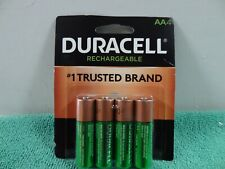New Duracell NiMH AA Rechargeable Batteries, Pack Of 4 Batteries,Sealed