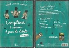 DVD - COMPTINES A MIMER ET JEUX DE DOIGTS / POUR LES PETITS CRECHE NEUF EMBALLE
