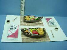 Dollhouse Miniature Sushi Boat Set #A -Non-Edible - Teri's Mini Workshop 1/12th