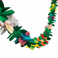 1pc Tropical Paper Flower Garland 9.9ft Hawaii Luau Party Favor String Garland