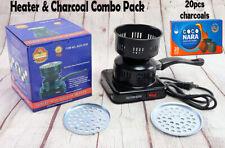 Electric Coal Starter Hookah Shisha Heater Stove Charcoal Burner+COCO NARA Coals