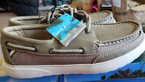 NEW, Margaritaville Men's Boat Shoes, Lightweight Very comfort, Palm color