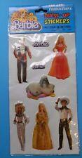 Vintage 1980s Barbie Puffy Dress-Up Stickers NIP (B)