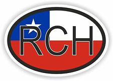 RCH Chile COUNTRY CODE OVAL WITH Sticker Bumper Sticker Car Motorcycle Tablet
