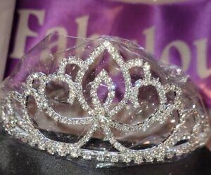 Birthday Forty and Fabulous Purple Sash & Silver Rhinestone Tiara (2-Piece Set)