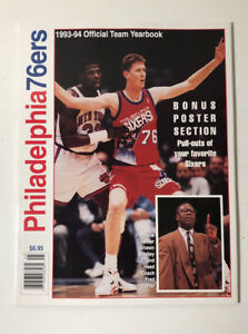 1993-1994 Philadelphia 76ers Official Team Yearbook Mint